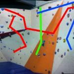 Der Boulderbereich in der Kletterhalle in Tessin.