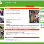 Screenshot der Homepage des DAV Sektion Rostock