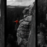 Richard Wetzel klettert Lineal (IXa) am Meurerturm