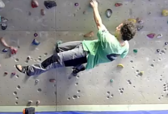 Klettertechnik: Eindrehen im Überhang