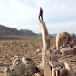 Romain Desgranges bouldert Highballs in Joshua Tree